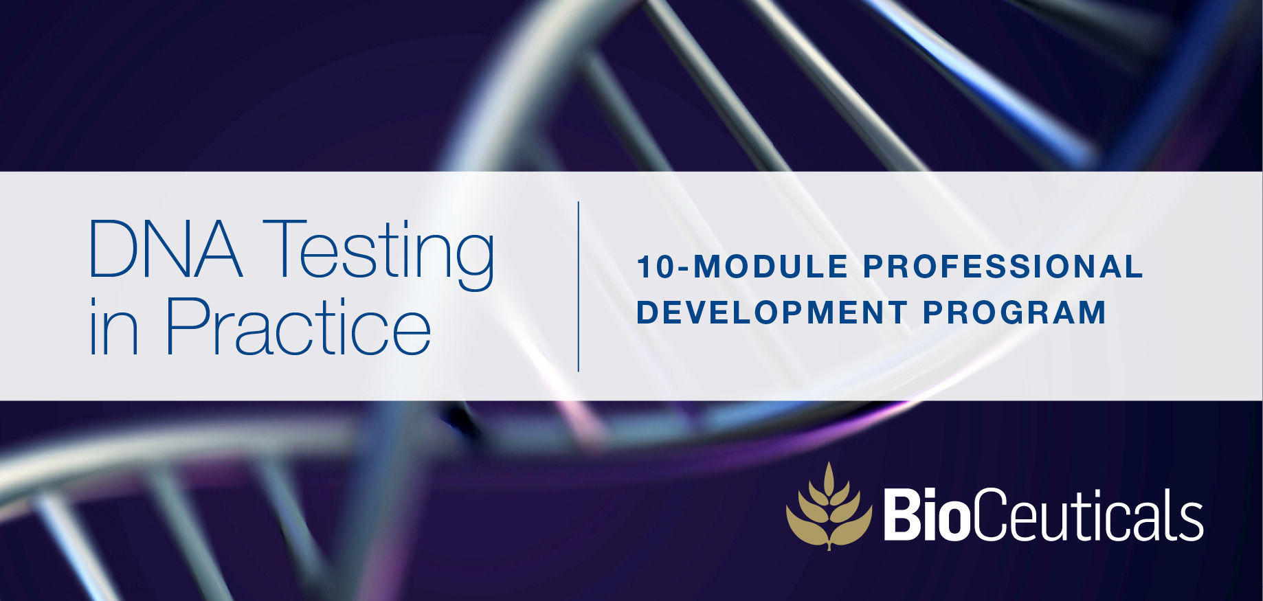DNA testing in practice - online course registration