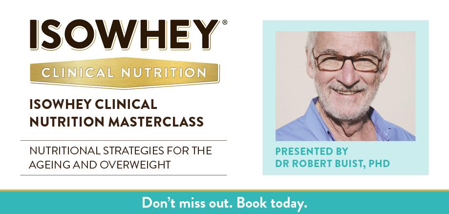 IsoWhey Clinical Nutrition Masterclass - Hobart