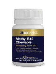 Methyl B12 Chewable 60 tablets