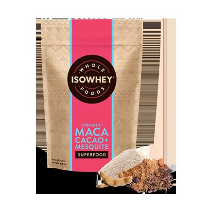 IsoWhey Superfoods Organic Maca, Cacao + Mesquite Powder