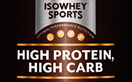 IsoWhey Sports - High Protein, High Carb - Vanilla