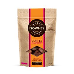 IsoWhey Wholefoods Superfood Snacks - Coffee + Raspberry