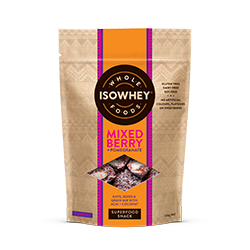 IsoWhey Wholefoods Superfood Snacks - Mixed Berry + Pomegranate