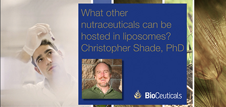 What other nutraceuticals can be hosted in a liposome?