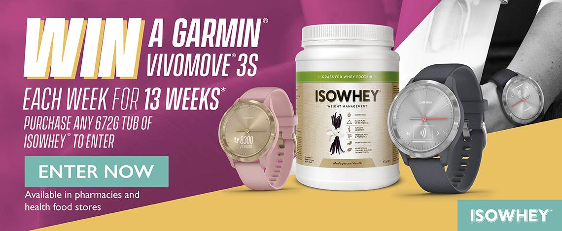 Win a Garmin Vivomove 3S each week for 13 weeks