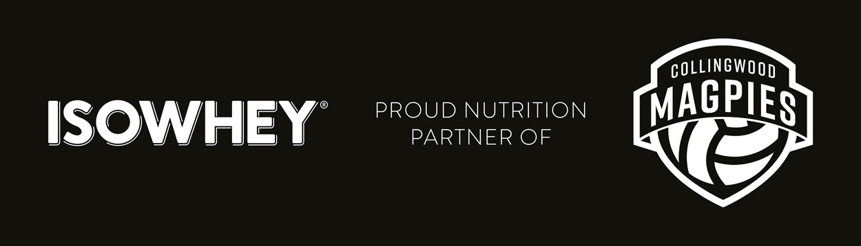 IsoWhey proud nutrition partner of Collingwood Magpies