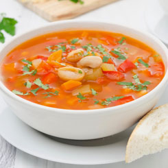 Minestrone soup photo