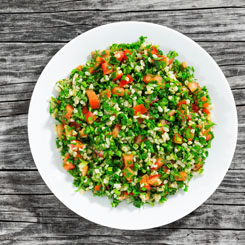 Crunchy pumpkin seed tabouli & tuna photo