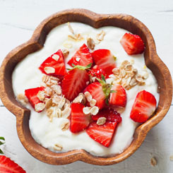 Summer fruit salad with IsoWhey® yoghurt photo