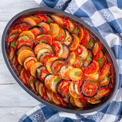 Fish with ratatouille photo
