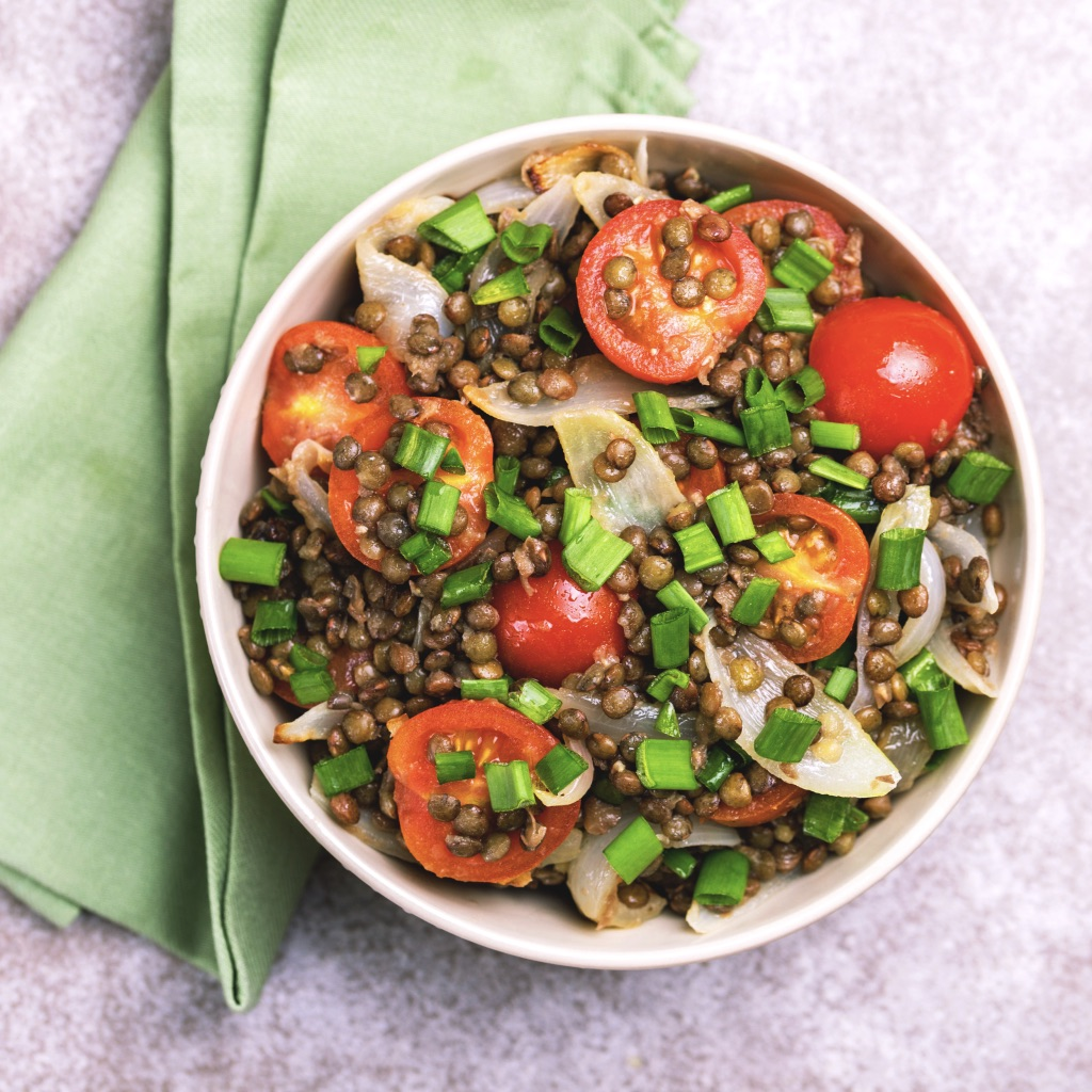 Moroccan lentil salad photo