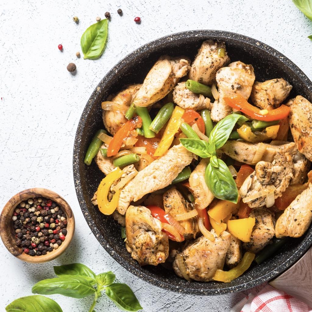 Chicken & bean salad photo