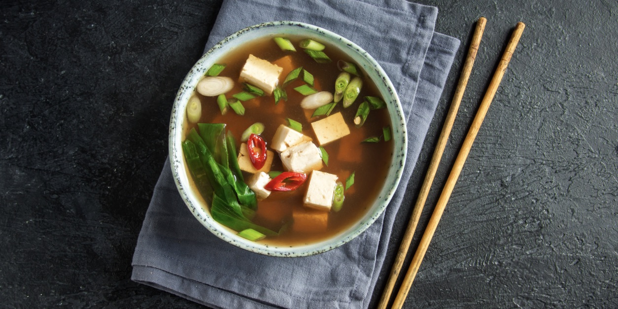 Spicy tofu & vegetable soup photo