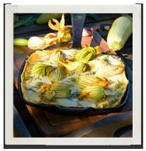 Zucchini frittata photo