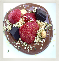 Gut strengthening cacao, sacha inchi and berry protein pudding photo