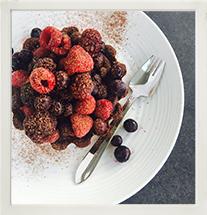Chocolate Tart with Mixed Berries photo