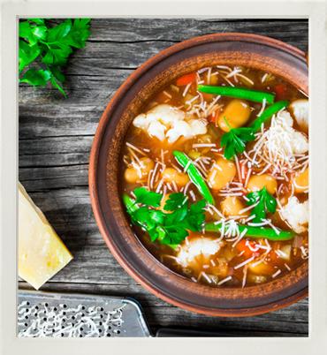 Minestrone soup photo
