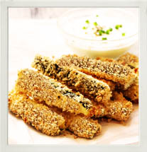 Dukkah Baked Zucchini Chips photo