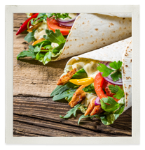 Mexican-style chicken wrap photo