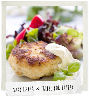 Chicken teriyaki patties with steamed Chinese vegetables photo