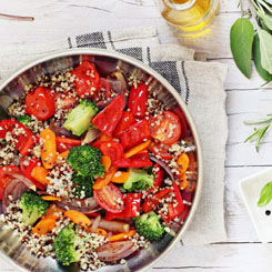 Roasted Vegetables with Quinoa photo