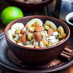 Currant, Cranberry & Pistachio Paleo Porridge photo