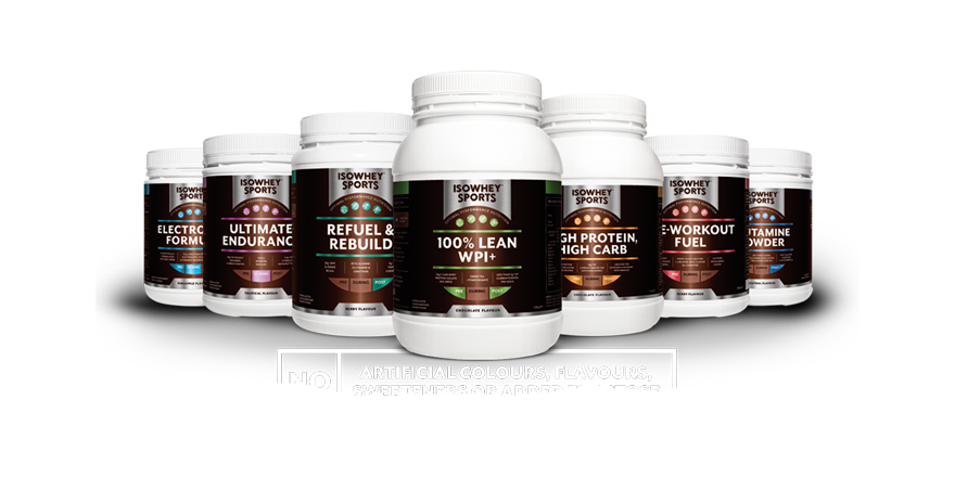 IsoWhey Sports - No artificial colours, flavours, sweeteners or added fructose