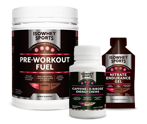 IsoWhey Sport Pre-workout product range